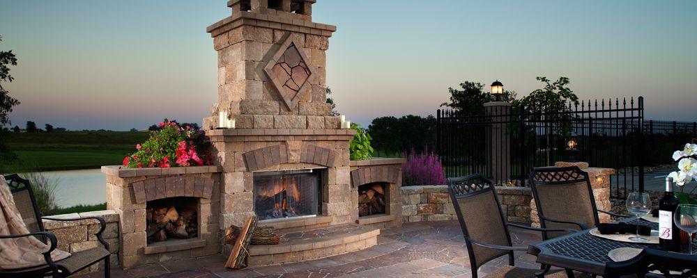 belgard harmony collection bristol fireplace fire features rh pinterest com