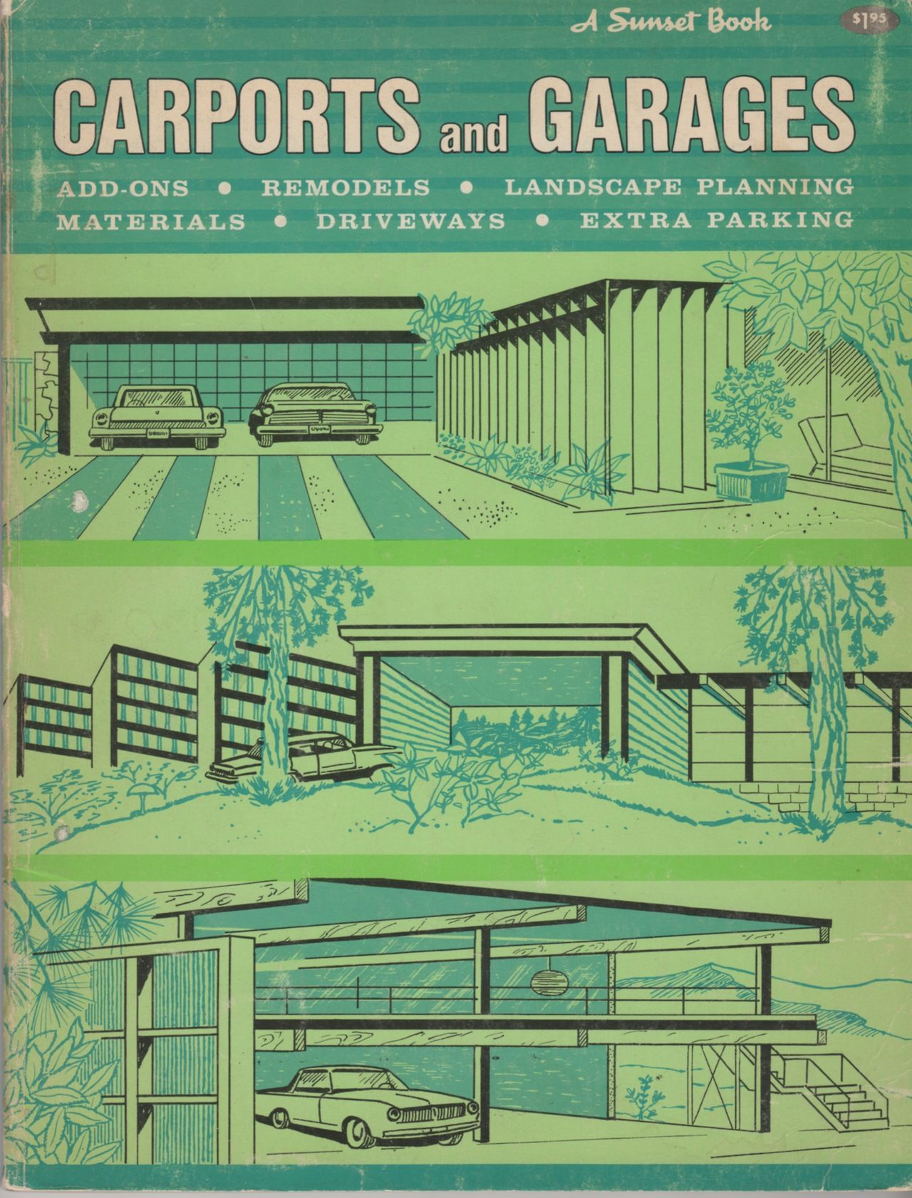 Carports and Garages (A Sunset Book). Lane, 1964 ...