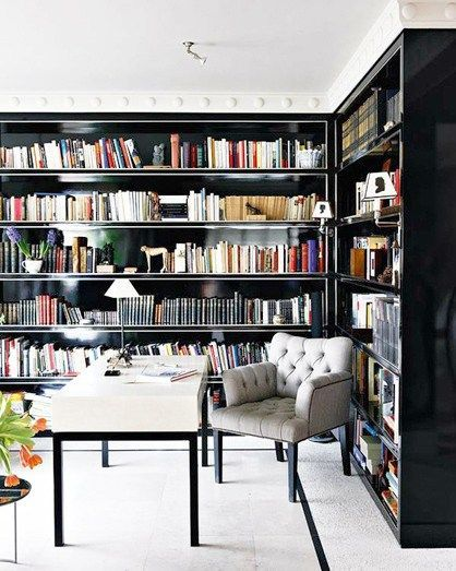 7 chic home libraries to inspire you on how to decorate your own rh pinterest com