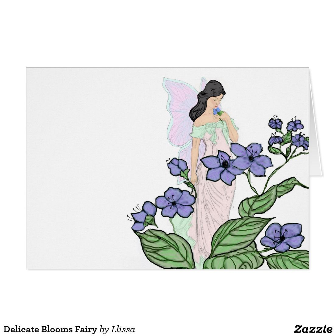 Delicate Blooms Fairy Card
