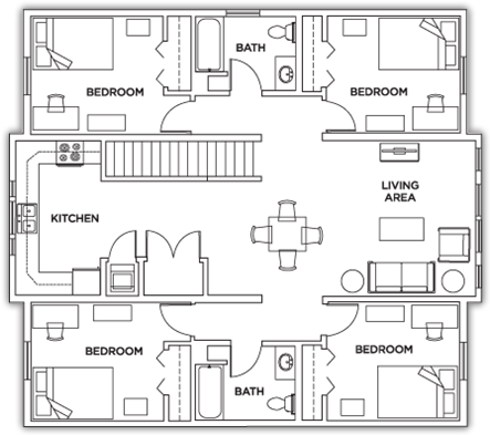 Student Housing Floor Plans Apartment Floor Plans Student House Hostels Design