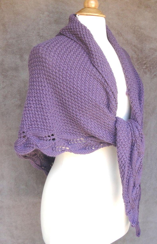 Knitting Pattern Mable Shawl - #ad - Elegant moss stitch shawl with ...