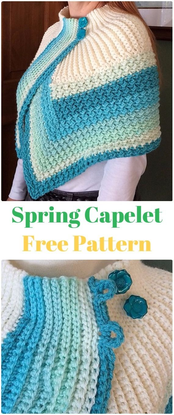 Knit Spring Capelet Free Pattern - Knit Women Capes & Poncho Free ...