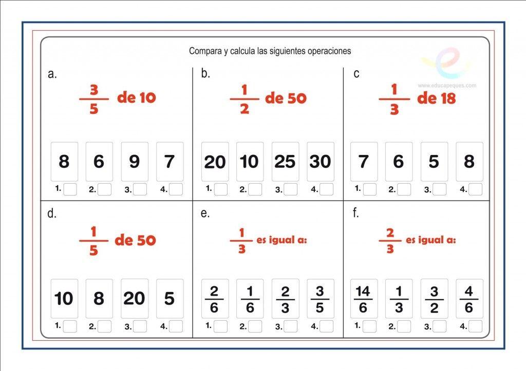 Fracciones Suma Resta Multiplicacion Y Division De Fracciones Fracciones Como Enseñar Fracciones Operaciones Con Fracciones