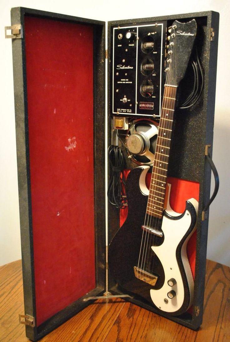 details about danelectro silvertone guitar 1448 amp in case vintage working electric tube. Black Bedroom Furniture Sets. Home Design Ideas