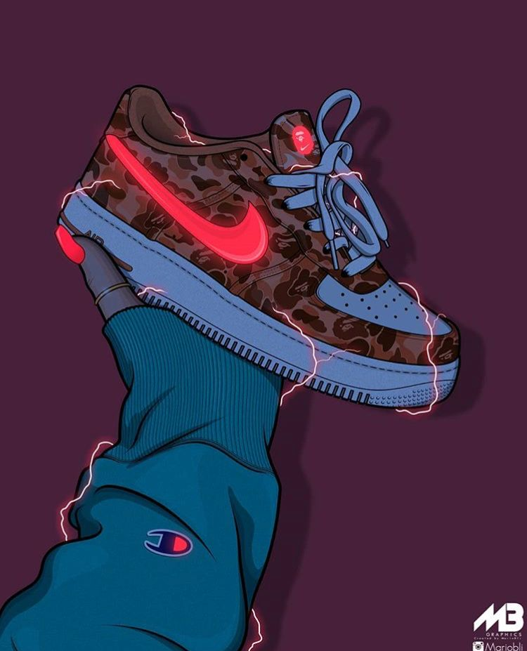 Pin By Huero Galan On Art Sneaker Art Sneakers Illustration Nike Art