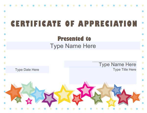 Certificate Appreciation Templates Sampleprintable Template Free