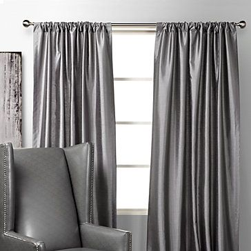 Silver curtains! | For the Home | Bedroom drapes, Stylish home decor ...