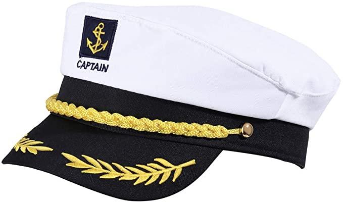 Amazon Com Kkbes Captain Hat Sailors Cap Nautical Hat Yacht Hat Adjustable Sea Cap Costume Navy Marine Nautical Hats Sailor Cap Halloween Costume Accessories