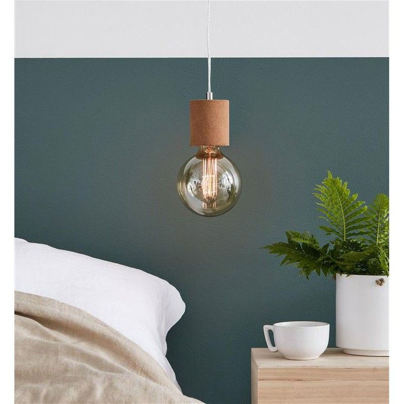 Suspension E27 Scandinave Cork Liege Liege 1 X 60 W Markslojd Leroy Merlin Suspension Luminaire Cork Suspension