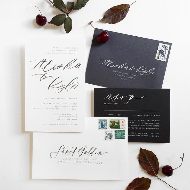 black and white wedding cards pinterest%0A Wedding Invitations            Chelsea Petaja on Instagram  Black and white  and gray all over