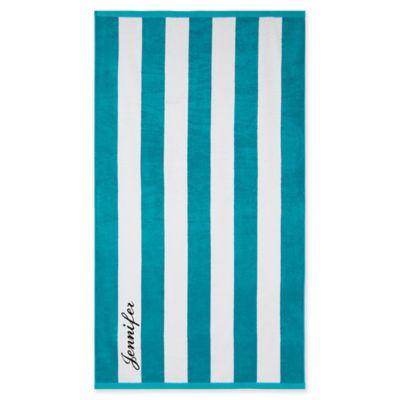Wamsutta Personalized Resort Stripe Beach Towel In Blue Beach