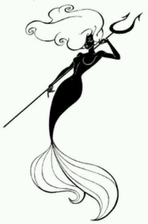 Mermaid Tattoo | Sereias | Pinterest | Sirenitas, Criaturas ...