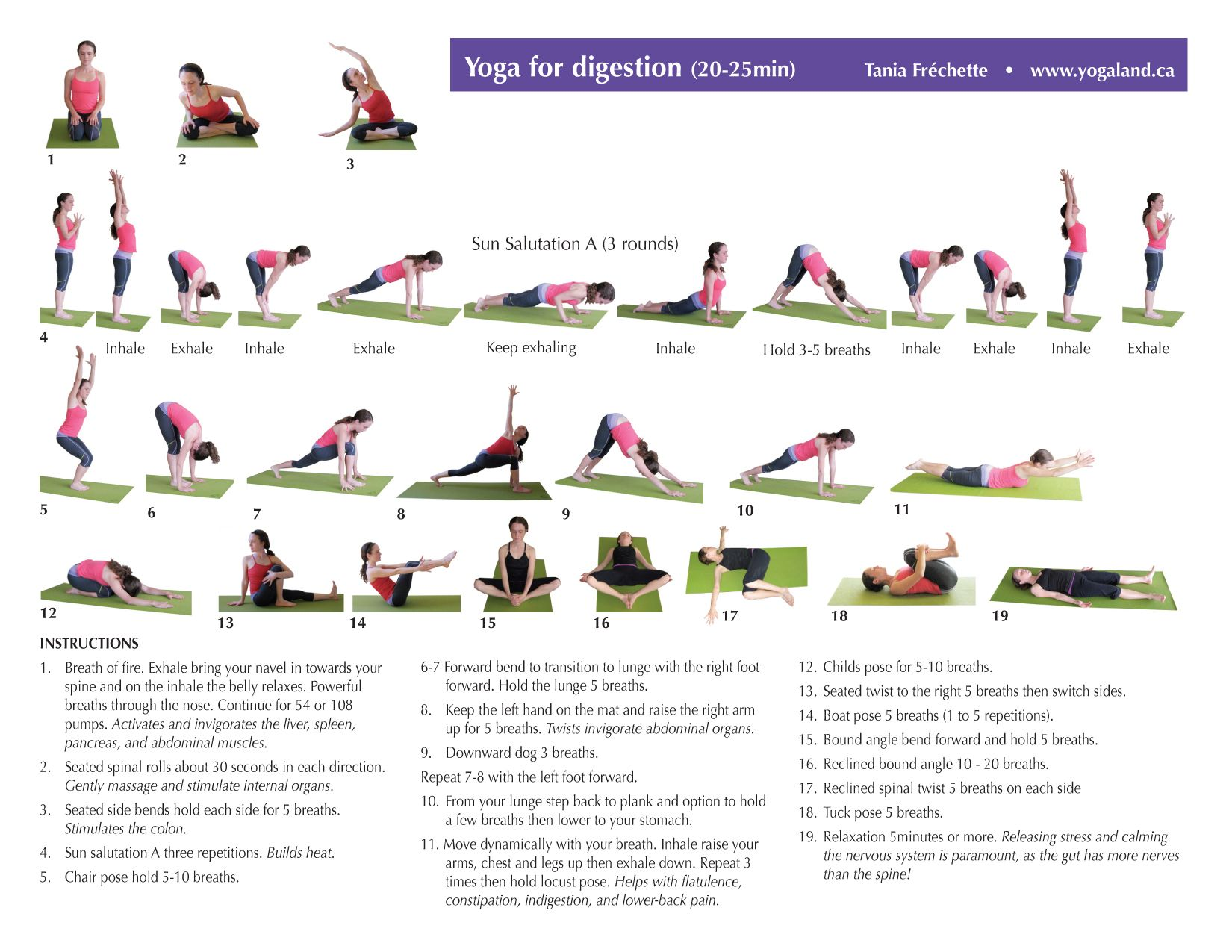yoga sequence to help with digestion