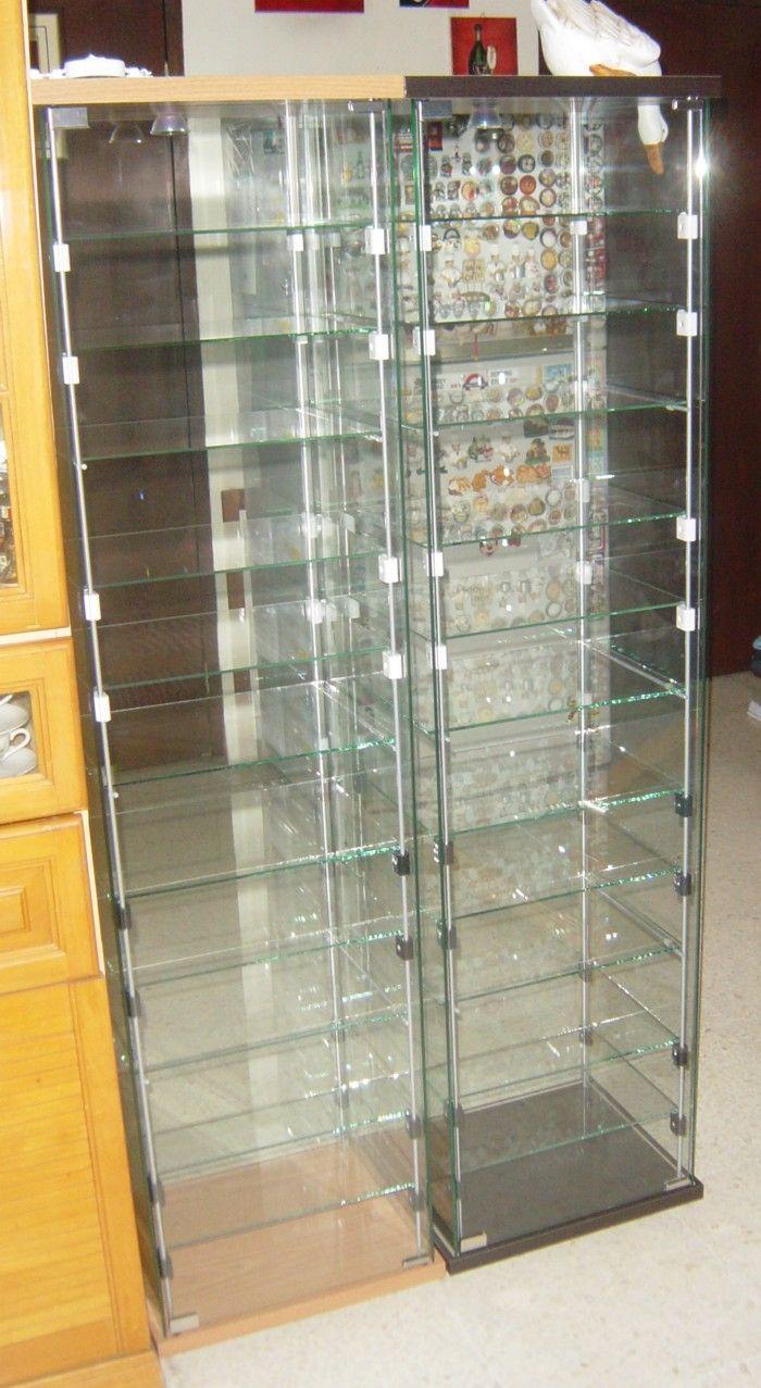 extra shelves in detolf case da c ikea hacks pinterest vitrinas para el hogar y ideas para. Black Bedroom Furniture Sets. Home Design Ideas