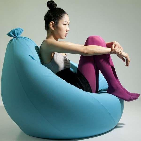oversized balloon chairs furnitures bean bag chair lounge rh pinterest com