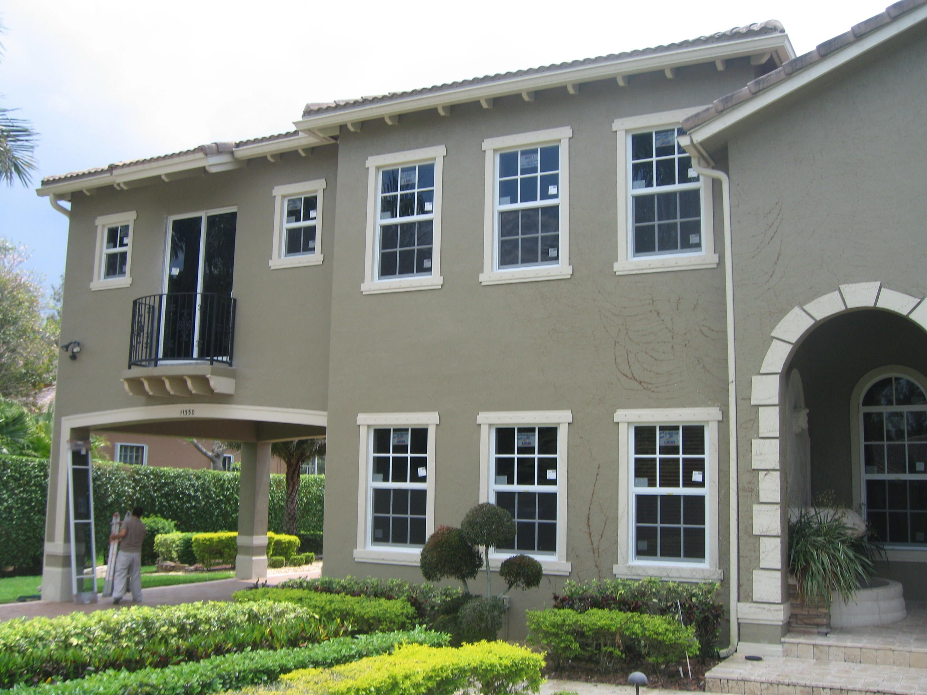 Accordian shutters can be installed on wood masonry