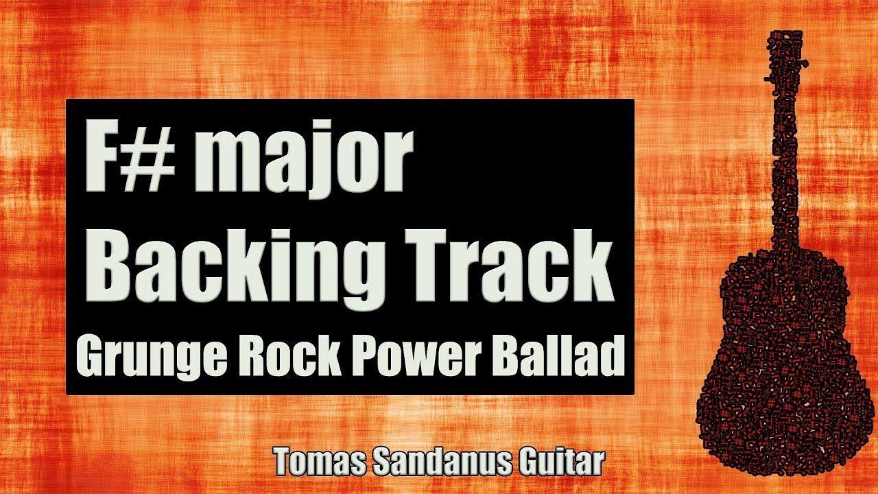 F major backing track f sharp grunge rock power