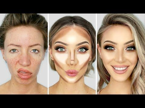 0 100 Glow Up Makeup Transformation Gesicht Schminken Gesicht