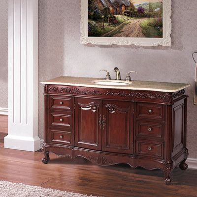 "Castleton Home 56"" Single Bathroom Vanity Set & Reviews  Wayfair Magnificent Bathroom Cabinet Reviews Inspiration Design"