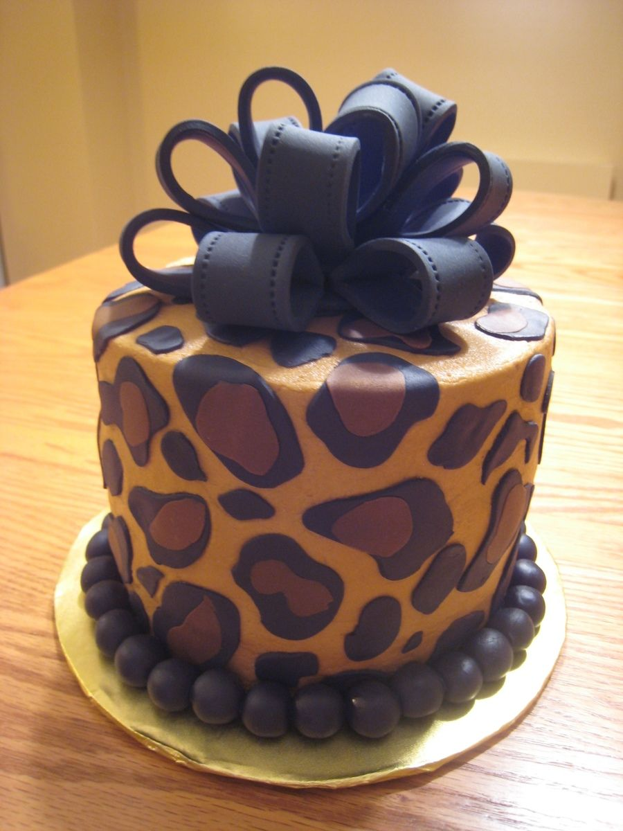 Phenomenal Leopard Print Cake Taart Minicakes Cupcakes Personalised Birthday Cards Petedlily Jamesorg