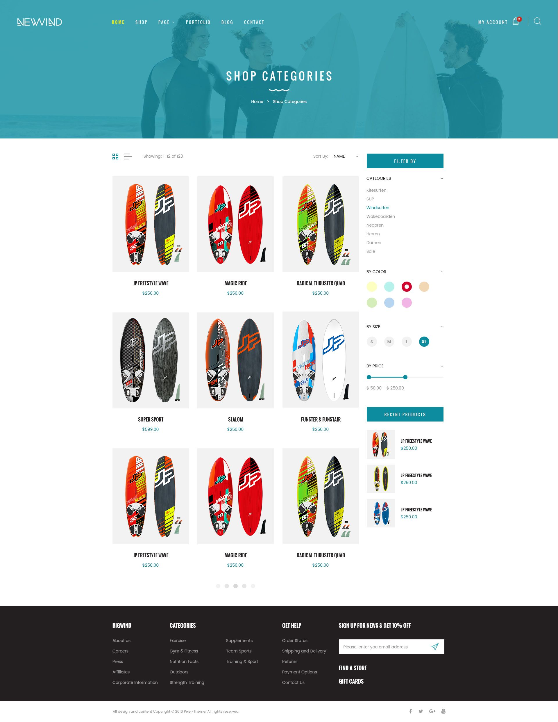 NewWind - eCommerce PSD Template #eCommerce, #NewWind, #Template