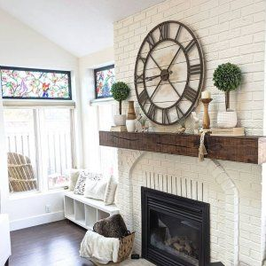Oversize Rustic Wall Clock
