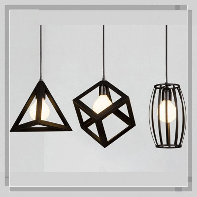 Pendant Lights Lights & Lighting Retro Pendant Lamp Vintage E27 Led Lights Black Iron Cage Lampshade Warehouse Bar Restaurant Bedroom Style Light Fixture