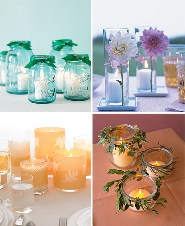 wrapped candles centerpieces bottom right candle candles rh pinterest jp
