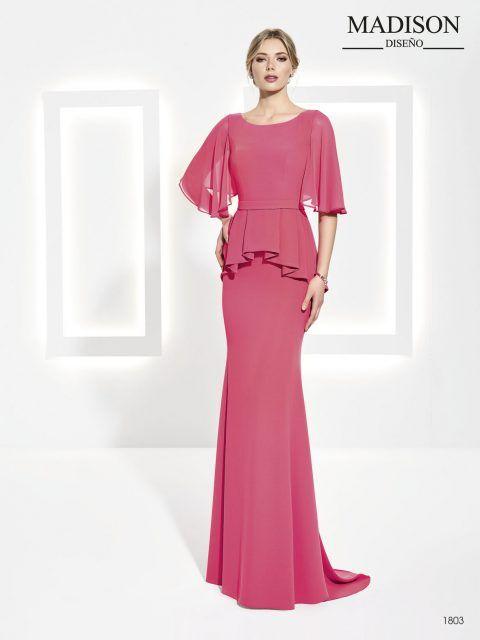 Vestido de ceremonia color coral | madrina | Pinterest | Coral ...