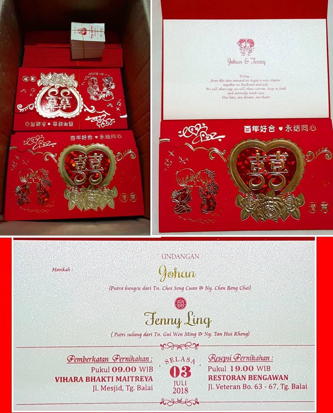 Wedding invitations done Happy Wedding Johan & Fenny Thankyou ...