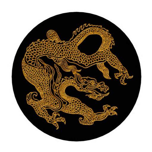 Golden oriental dragon 01 poker chips
