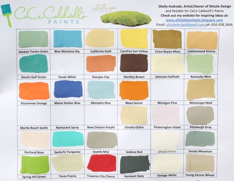 Shizzle Design: CeCe Caldwell's New Paint Colors are in including: California Gold, Cinco Bayou Moss, Johnston Daffodil, Kentucky Mint, Mississippi Mud, Pinkerington Violet, Portland Rose, Traverse City Cherry, Texas Prairie & more clear wax, light aging wax & several cans of our new satin finish (a durable topcoat for table tops & kitchen cabinets).  Click http://alittlebitoshizzle.blogspot.com/p/pieces-for-sale.html for more information and to see lots of CeCe Caldwell Painted Furniture.