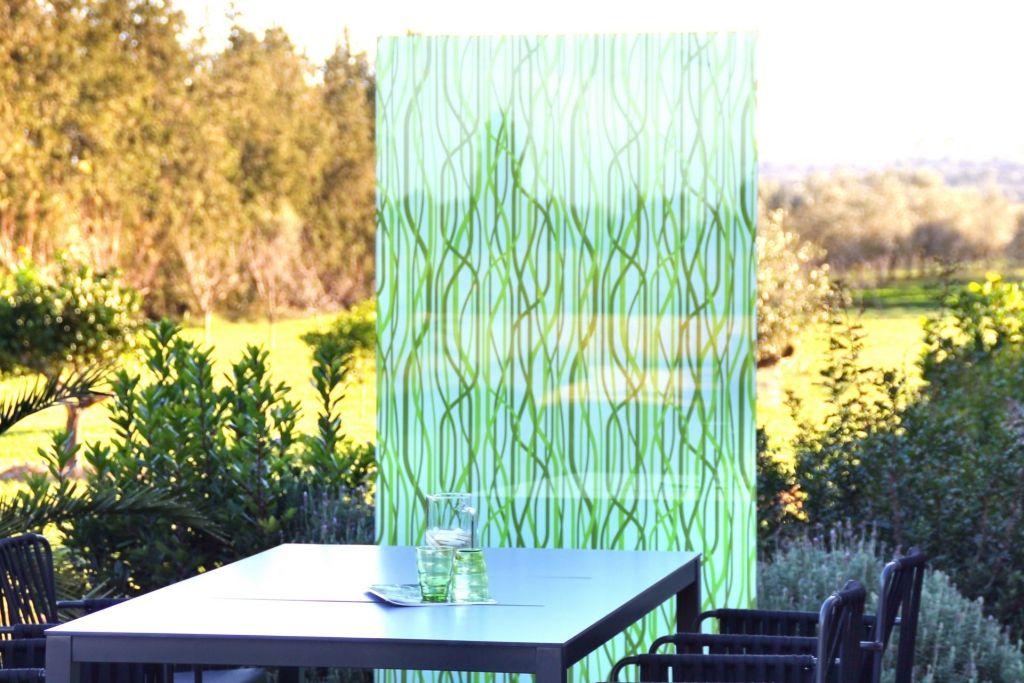 Knumox® Glasstele als Windschutz und Sichtschutz Garten - trennwand garten glas