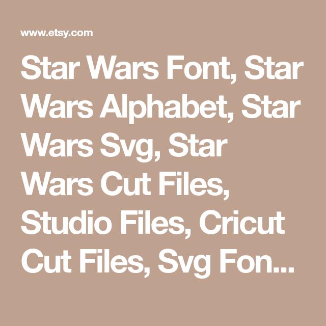 Star Wars Font, Star Wars Alphabet, Star Wars Svg, Star Wars