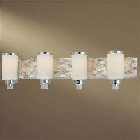 Mother Of Pearl Bath Light 4 Lt Shades Of Light Bath Light Bathroom Vanity Lighting Tropical Bathroom