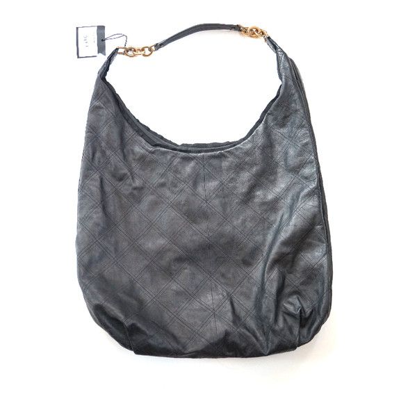 Pre-Owned Lanvin Overnight Hobo Bag (1 110 AUD) ❤ liked on Polyvore featuring bags, handbags, shoulder bags, black, lanvin handbags, gold purse, hobo purses, lanvin purse and snap purse