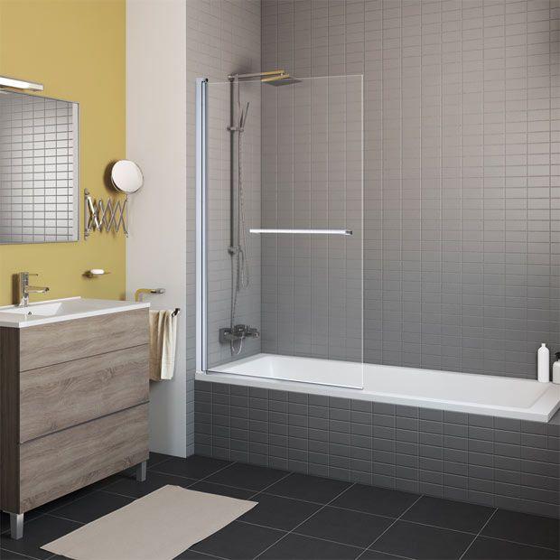 Mampara Para Bañera De Una Hoja Abatible Mampara Bañera Puertas De Ducha Diseño De Baños