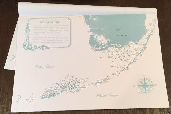 Florida Keys Placemats Nautical Placemats Placemats Florida Keys