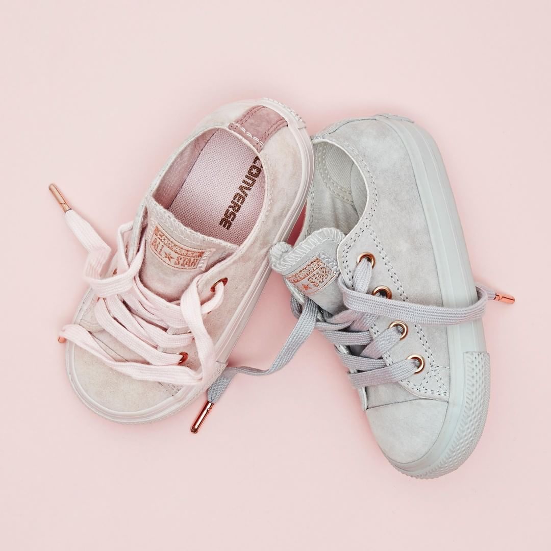 eb6aeea8a1e Too cute to handle All eyes on the latest  converse All Star Low Infant  Trainers in Ash Grey Suede and Potpourri Exclusive  officelovesconverse    ...