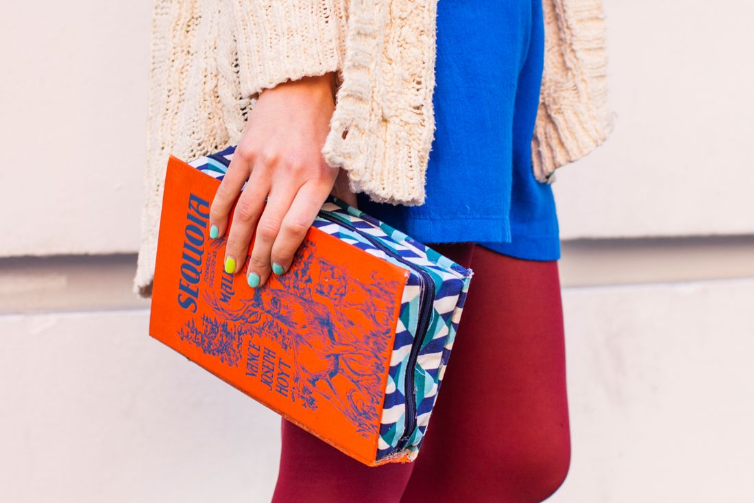 Look at this! A clutch bag made out of an