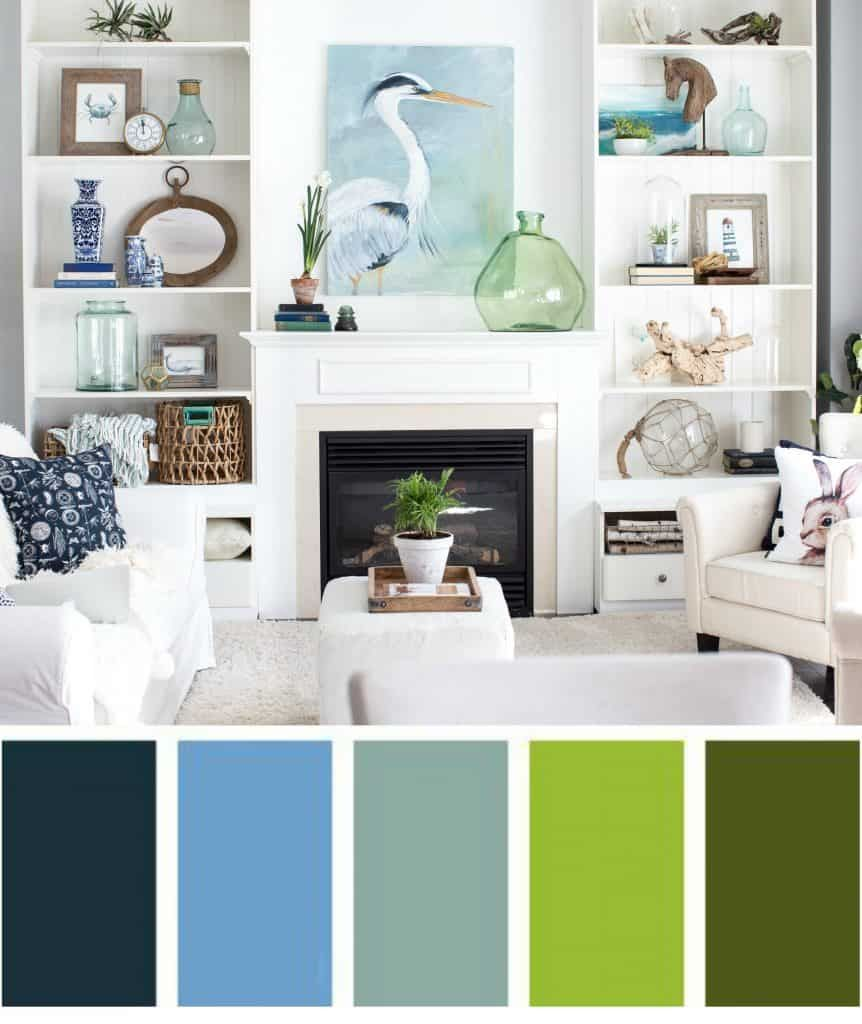 a cohesive color scheme for built in bookcases for the home home rh pinterest com