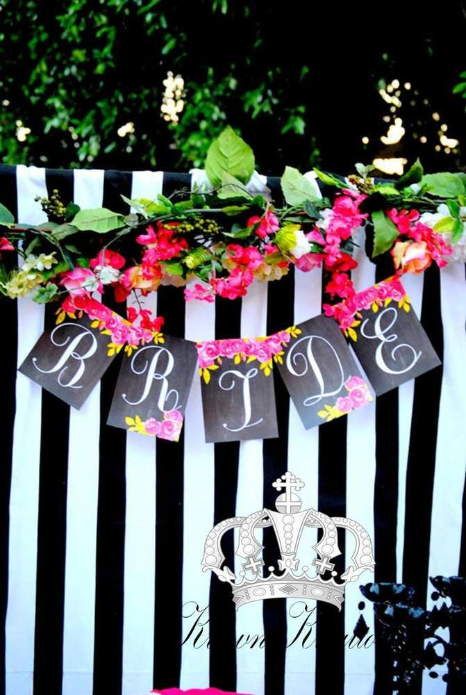 bridal shower themes for spring%0A Kate Spade bridal shower party decorations  See more party planning ideas  at CatchMyParty com