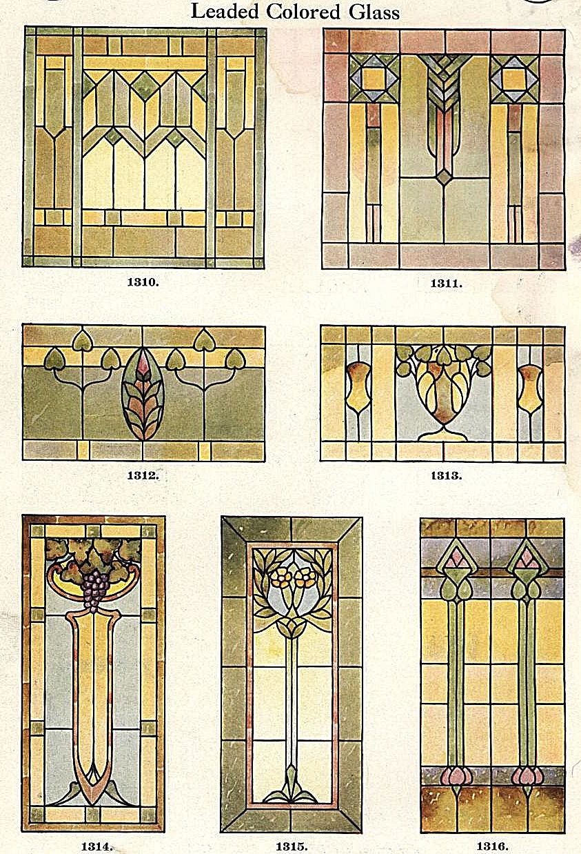 stained glass window designs 1923 known as art glass back then diorama miniaturen. Black Bedroom Furniture Sets. Home Design Ideas
