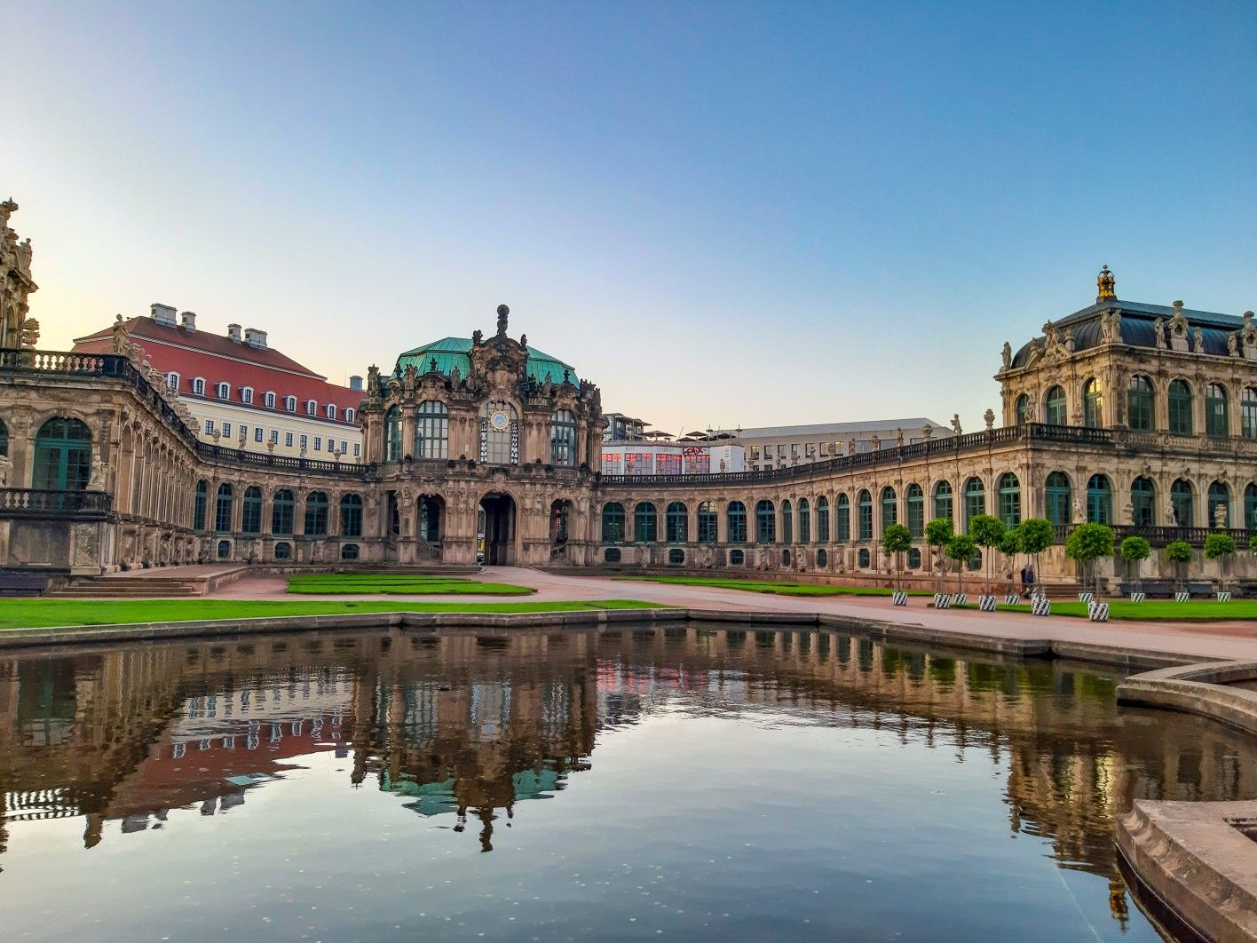 Zwinger Palace Dresden Germany 2019 Reflection Photography Beautiful Places Beautiful Destinations