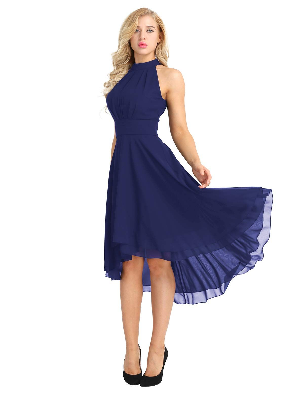 Women/'s Dress High-low Chiffon Cocktail Evening Party Prom Gown Bridesmaid Dress