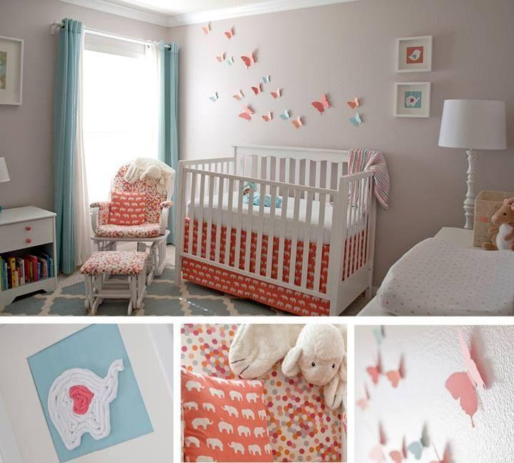 coral and aqua nursery inspirations from sewwoodsy com baby room rh pinterest com