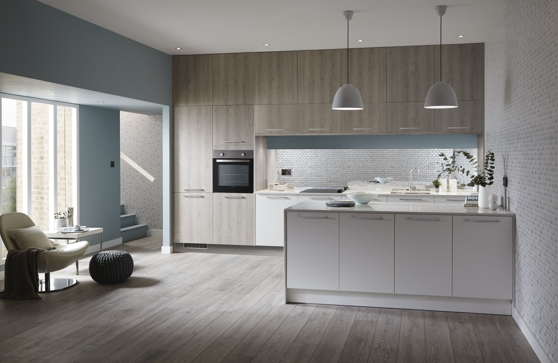 The Greenwich Light Grey Oak Kitchen from