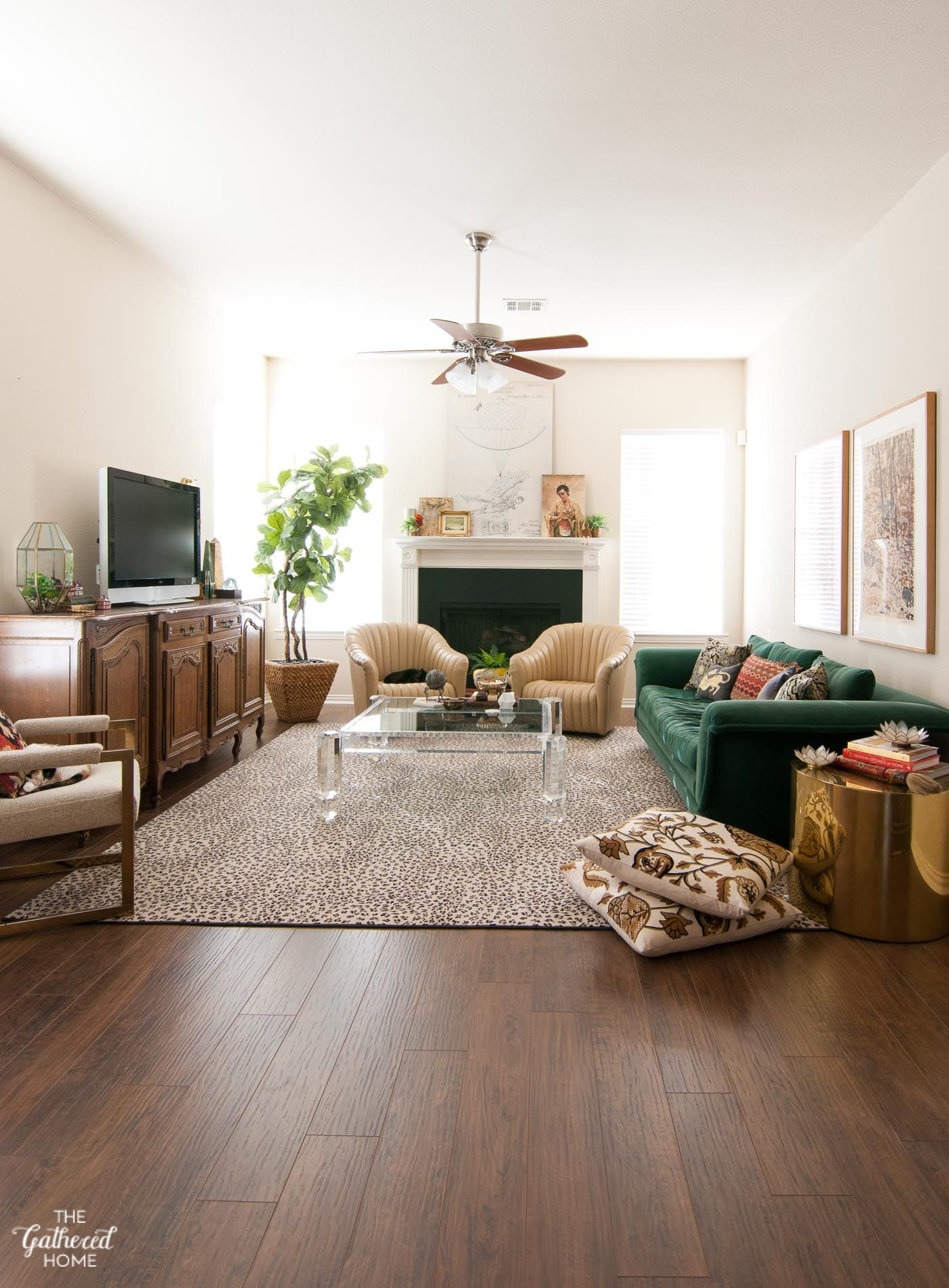Spring Living Room Styling The Gathered Home Walnut Laminate Flooring Spring Living Room Living Room Flooring
