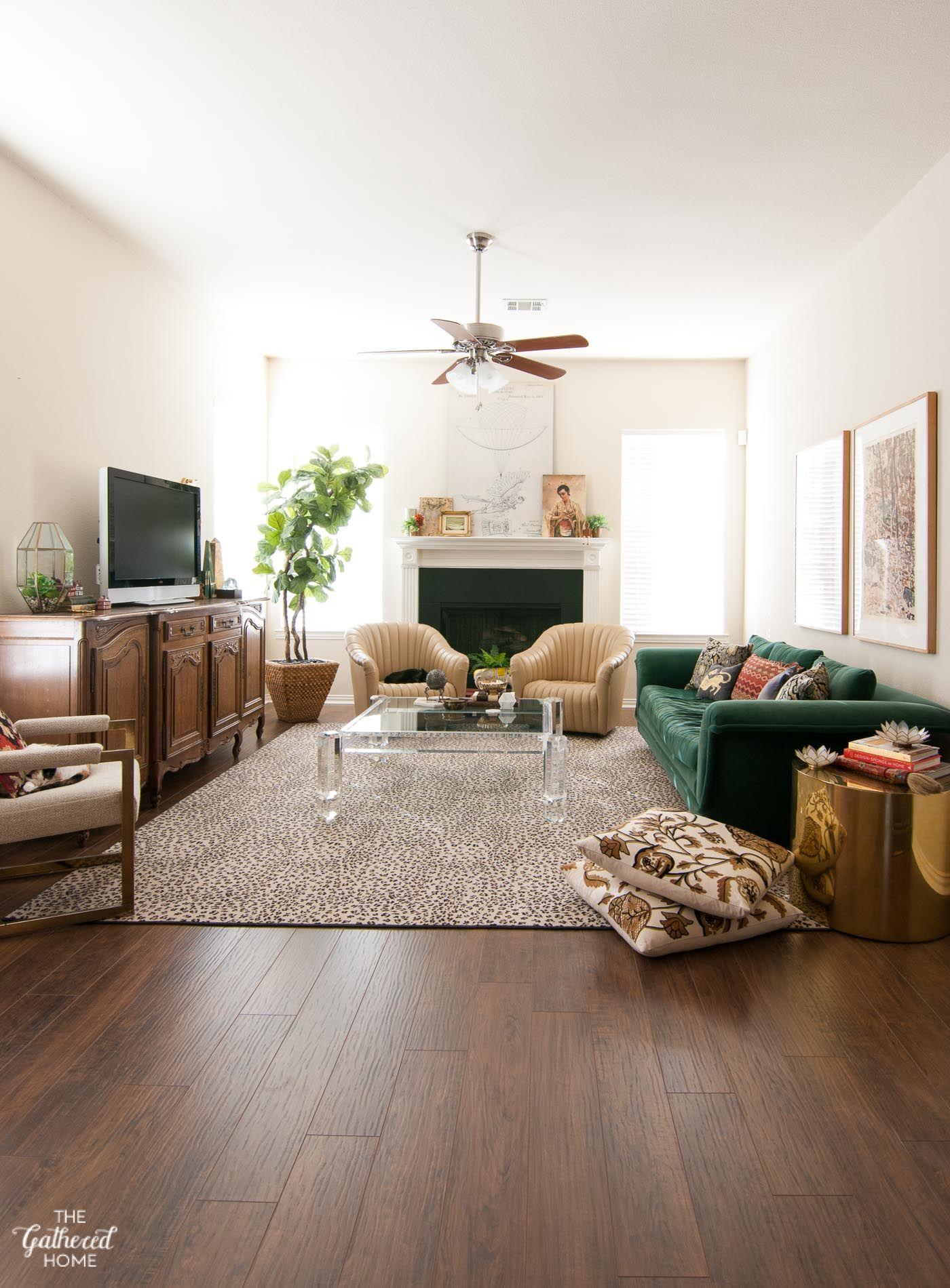 Spring Living Room Styling Parket Woonkamer Huis